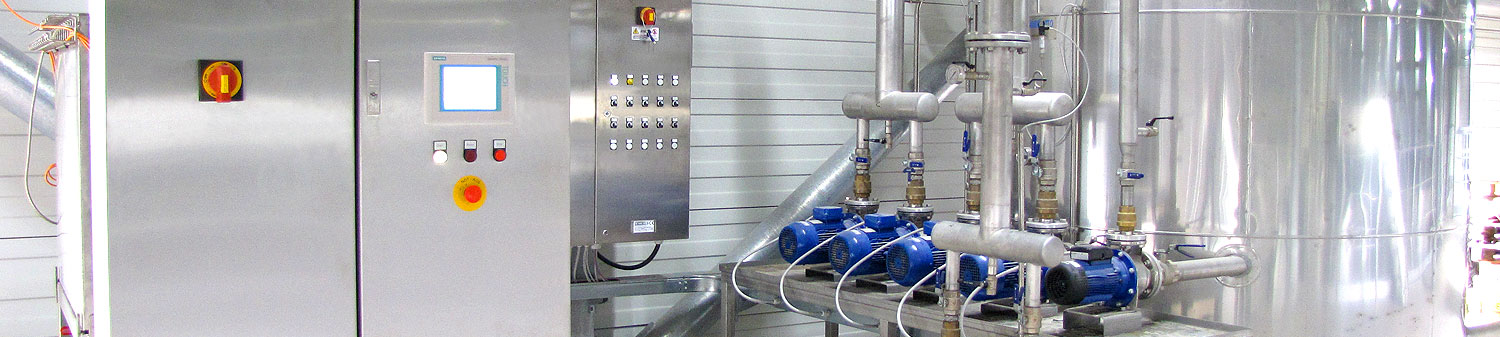 Chemical and food industry production plants automation and management g-control - header